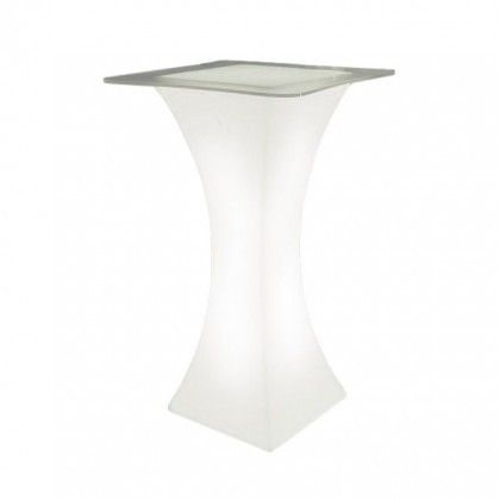 Стол барный светящийся LED Arcoro + стекло, светодиодный, высота 110 см., цвет тёплый или холодный белый, 220V