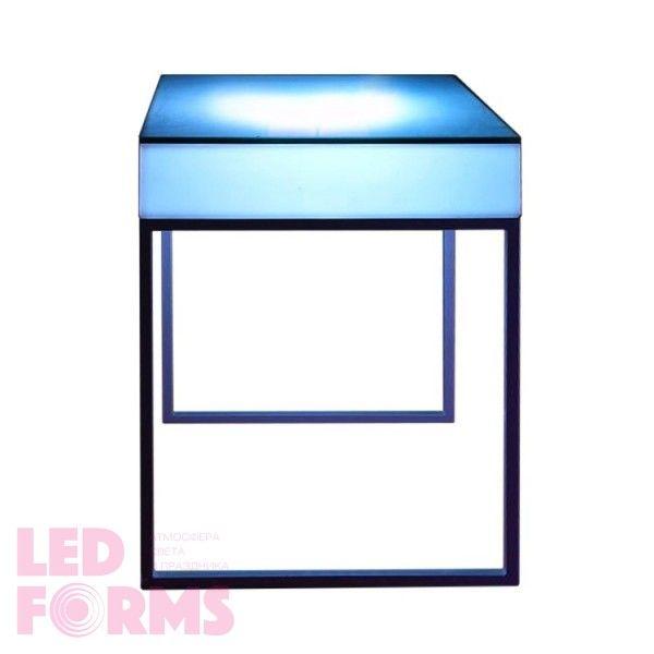 Стол барный LED Cana, светодиодный, высота 110 см., разноцветный (RGB), 220V