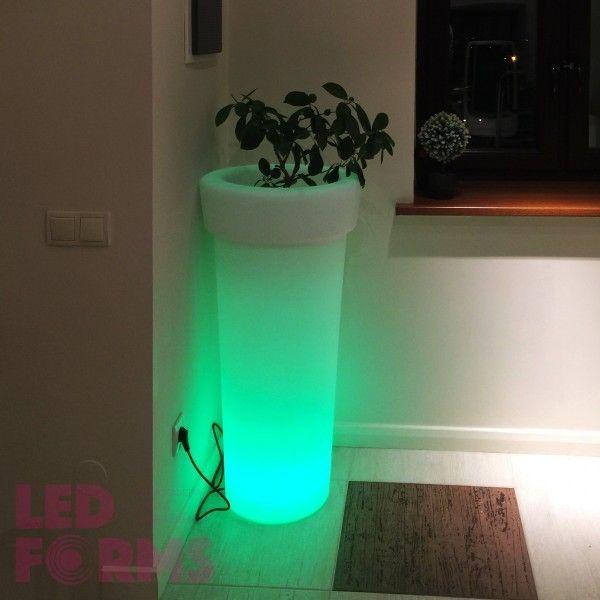 Кашпо светящееся (цветочница) LED Leiden, высота 98 см., светодиодное, разноцветное (RGB), IP65