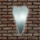 Светильник настенный LED Spike Bright, светодиодный, цвет тёплый белый, IP65