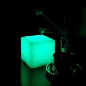 Светящийся LED Куб 20 см., светодиодный светильник, разноцветный RGB, с пультом ДУ, IP65