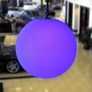 Подвесной светящийся LED Шар 60 см., светодиодный светильник, разноцветный RGB, с пультом ДУ, IP65