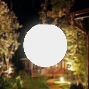 Подвесной светящийся LED Шар 25 см., светодиодный светильник, белый свет, IP65