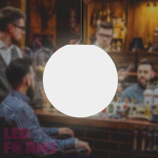 Шар подвесной светящийся LED, диам. 20 см., цвет тёплый или холодный белый, пылевлагозащита IP65, 220V