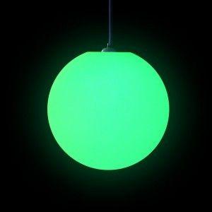 Подвесной светящийся LED Шар 40 см., светодиодный светильник, разноцветный RGB, с пультом ДУ, IP65
