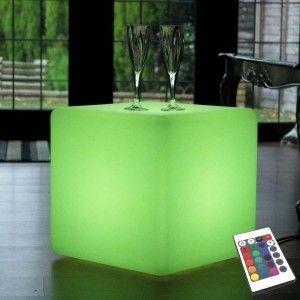 Светящийся LED Куб 30 см., светодиодный светильник, разноцветный RGB, с пультом ДУ, IP65
