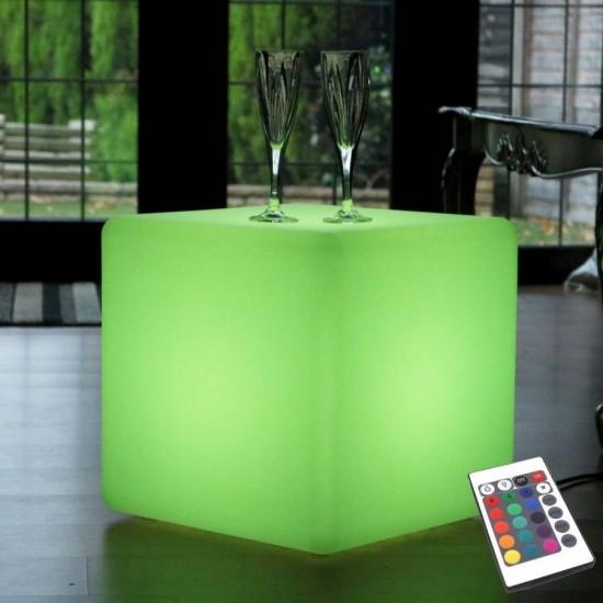 Куб светящийся LED, 30*30*30 см., разноцветный (RGB), пылевлагозащита IP65, 220V