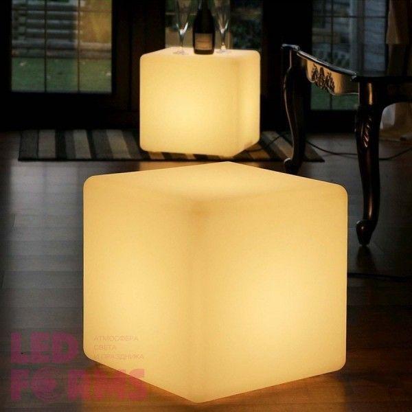 Куб светящийся LED, 50*50*50 см., цвет тёплый или холодный белый, пылевлагозащита IP65, 220V