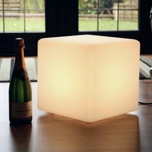 Светящийся LED Куб 30 см., светодиодный светильник, белый свет, IP65