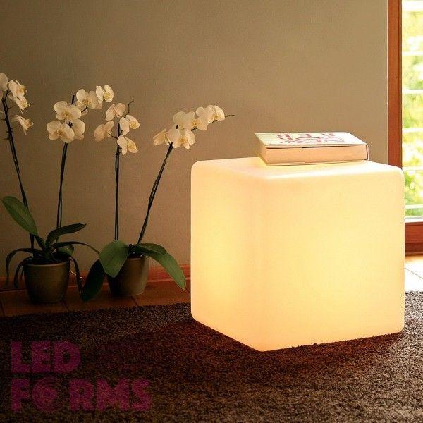 Куб светящийся LED, 40*40*40 см., цвет тёплый или холодный белый, пылевлагозащита IP65, 220V