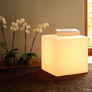 Светящийся LED Куб 40 см., светодиодный светильник, белый свет, IP65