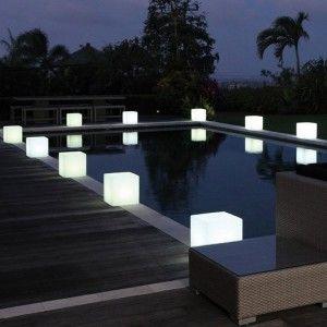 Светящийся куб LED Cube 80 см., одноцветный белый, IP65