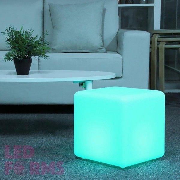 Куб светящийся беспроводной LED, 60*60*60 см., разноцветный (RGB), пылевлагозащита IP68, встроенный аккумулятор