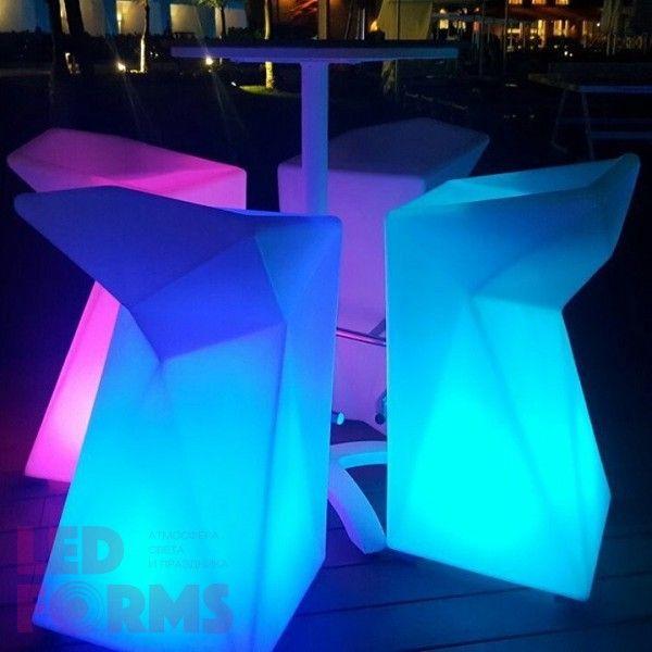 Стул барный светящийся (светомебель) LED Borne, светодиодный, разноцветный (RGB), пылевлагозащита IP65