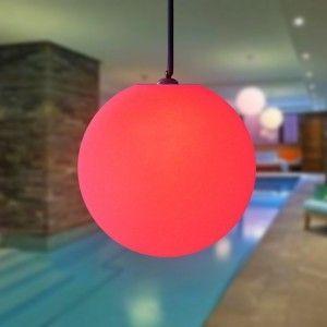 Подвесной светящийся LED Шар 35 см., светодиодный светильник, разноцветный RGB, с пультом ДУ, IP65