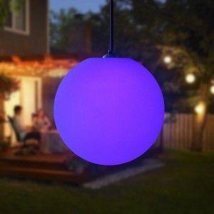Подвесной светящийся LED Шар 30 см., светодиодный светильник, разноцветный RGB, с пультом ДУ, IP65