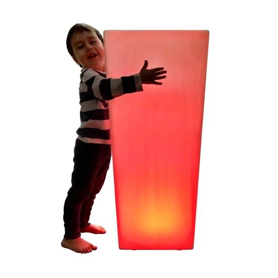 Кашпо с подсветкой LED Quadrum D, 40*40*90 см., светодиодное, разноцветное (RGB), встроенный аккумулятор