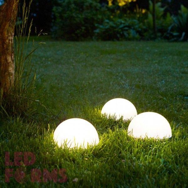 Полусфера светящаяся беспроводная LED, диам. 30 см., разноцветная (RGB), пылевлагозащита IP68, встроенный аккумулятор