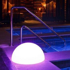 Полусфера светящаяся беспроводная LED, диам. 50 см., разноцветная (RGB), IP68, с аккумулятором