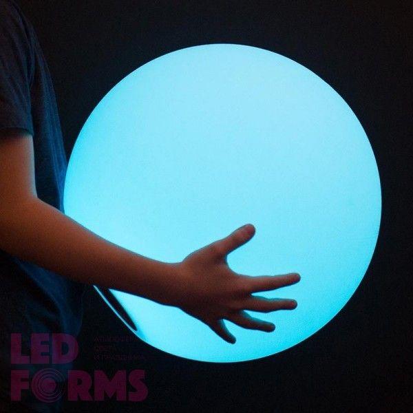 Шар светящийся беспроводной LED, диам. 40 см., разноцветный (RGB), пылевлагозащита IP68, встроенный аккумулятор