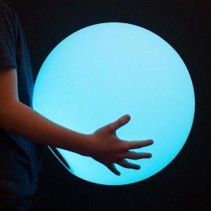 Cветильник шар беспроводной LED MOONBALL 40 см. разноцветный RGB с аккумулятором и пультом USB IP68