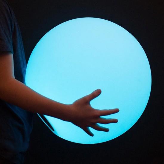 Светильник шар беспроводной LED MOONBALL 40 см. разноцветный RGB с аккумулятором и пультом USB IP68 — Купить в интернет-магазине