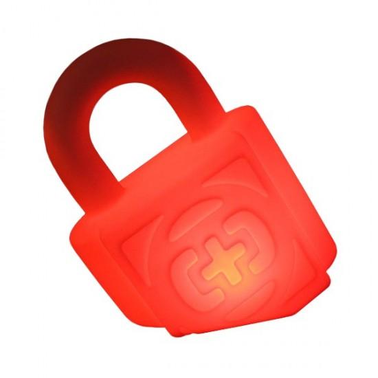 Световая фигура LED Lock (Замок), светодиодная, разноцветная (RGB), пылевлагозащита IP65