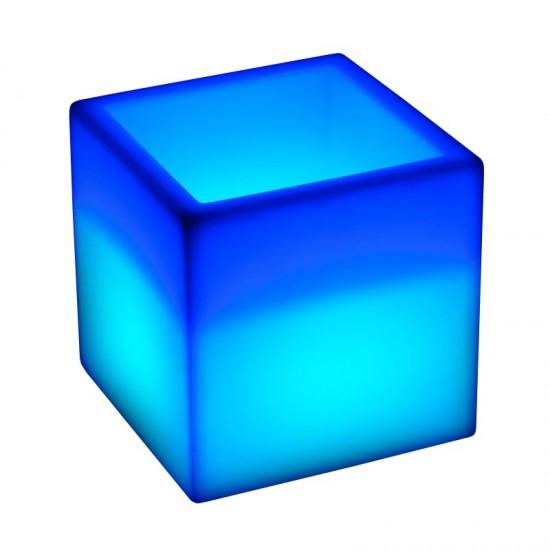 Светящееся кашпо куб для цветов LED PLAZA 40 см. c разноцветной RGB подсветкой и пультом ДУ IP65 220V — Купить в интернет-магази