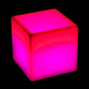 Кашпо с подсветкой LED Plaza B, 40*40*42 см., светодиодное, разноцветное (RGB), встроенный аккумулятор