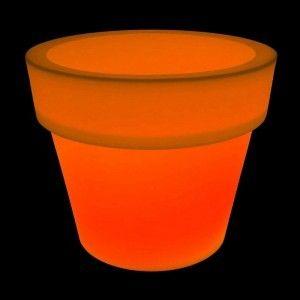 Цветочный вазон с аккумулятором LED POT-1 c разноцветной RGB подсветкой и пультом USB IP65 — Купить в интернет-магазине LED Form