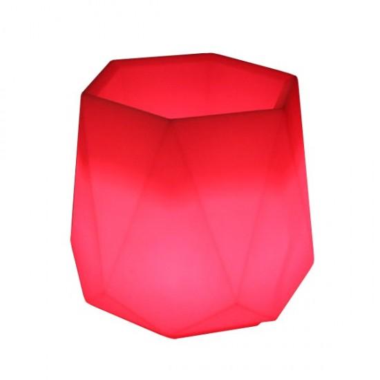 Кашпо светящееся (цветочница) LED Borne S, высота 52 см., светодиодное, разноцветное (RGB), пылевлагозащита IP65