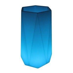 Светящееся кашпо для цветов LED BORNE-1 c разноцветной RGB подсветкой и пультом ДУ IP65