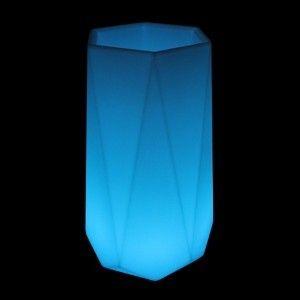 Кашпо светящееся (цветочница) LED Borne L, высота 102 см., светодиодное, разноцветное (RGB), пылевлагозащита IP65