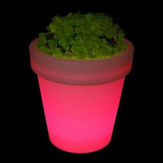 Кашпо светящееся (цветочница) LED Alphen L, высота 65 см., светодиодное, разноцветное (RGB), пылевлагозащита IP65