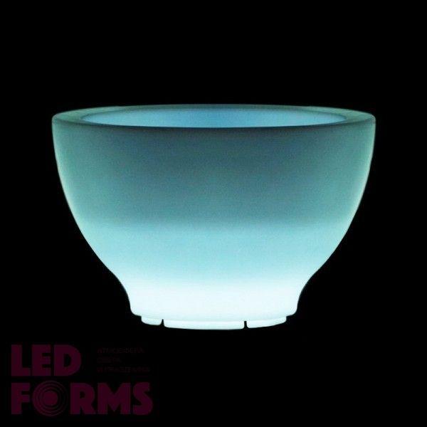 Кашпо светящееся (цветочница) LED Anjum S, высота 39,5 см., светодиодное, разноцветное (RGB), пылевлагозащита IP65