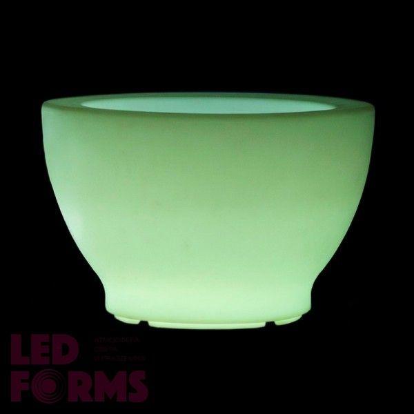 Кашпо светящееся (цветочница) LED Anjum L, высота 51,5 см., светодиодное, разноцветное (RGB), пылевлагозащита IP65
