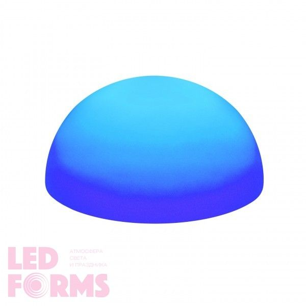 Светильник полусфера беспроводной LED HEMISPHERE 40 см. RGB с аккумулятором и пультом USB IP68 — Купить в интернет-магазине LED