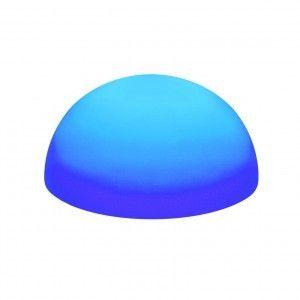 Полусфера светящаяся беспроводная LED, 40*20 см., разноцветная (RGB), IP68, с аккумулятором
