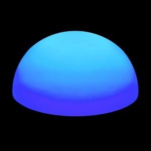 Полусфера светящаяся беспроводная LED, 80*40 см., разноцветная (RGB), IP68, с аккумулятором