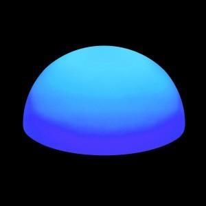 Полусфера светящаяся беспроводная LED, 60*30 см., разноцветная (RGB), IP68, с аккумулятором