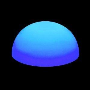 Полусфера светящаяся LED, 50*25 см., разноцветная (RGB), IP65, 220V