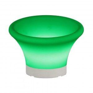 Ваза для фруктов (фруктовница) светящаяся LED Plate 2, светодиодная, разноцветная (RGB), IP54