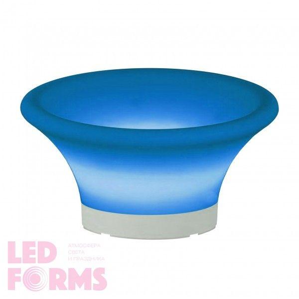 Ваза для фруктов (фруктовница) светящаяся LED Plate 3, светодиодная, разноцветная (RGB), IP54