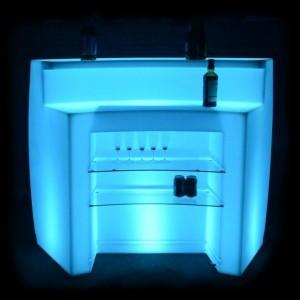 Барная стойка светящаяся (полукруглая секция) LED Infinity, светодиодная, разноцветная (RGB), IP65