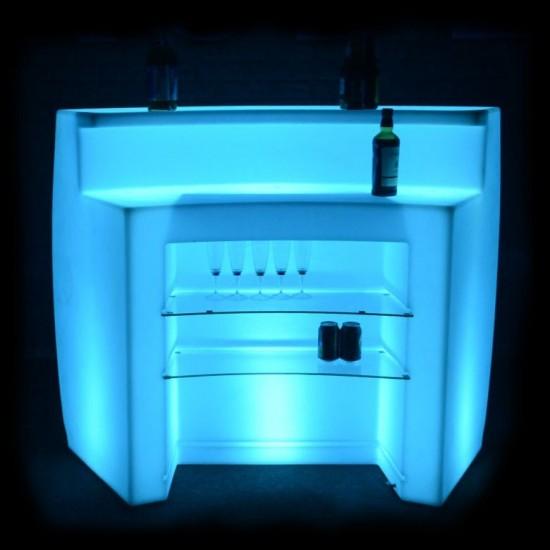 Барная стойка светящаяся (полукруглая секция) LED Infinity, светодиодная, разноцветная RGB, IP65 — Купить в интернет-магазине LE