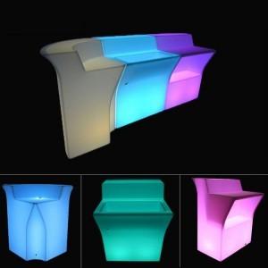 Барная стойка светящаяся (фронтальная секция с нишей для льда) LED Royal, разноцветная (RGB), IP65