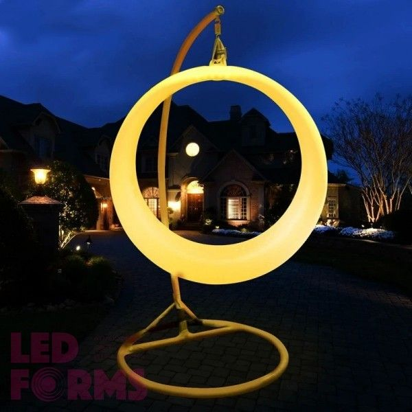 Качели светящиеся LED Ring, разноцветные (RGB), светодиодные, IP65, с аккумулятором — Купить в интернет-магазине LED Forms