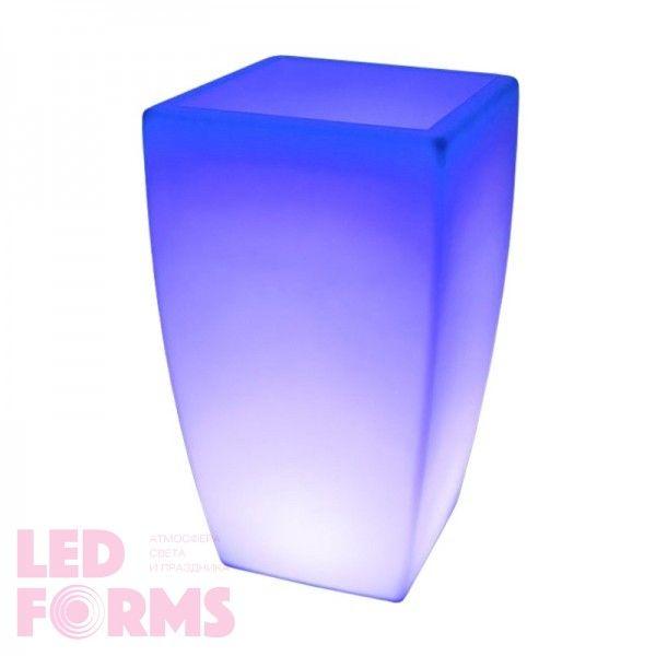 Светящееся кашпо для цветов LED LINEA-4 c разноцветной RGB подсветкой и пультом ДУ IP65 220V — Купить в интернет-магазине LED Fo