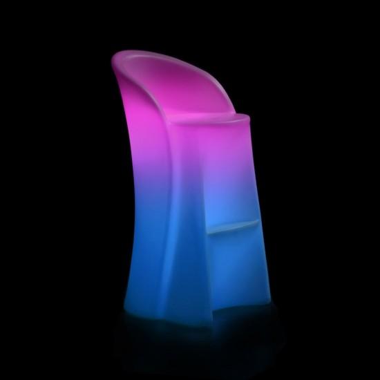 Барный стул светящийся LED ALPHEN c разноцветной RGB подсветкой и пультом ДУ IP65 — Купить в интернет-магазине LED Forms