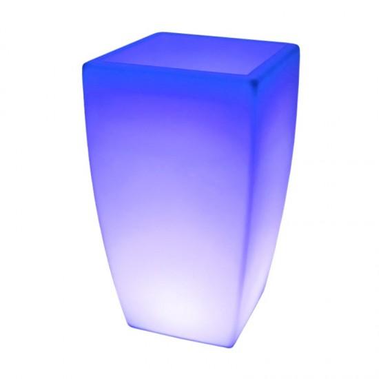 Светящееся цветочное кашпо с аккумулятором LED LINEA-4 c разноцветной RGB подсветкой и пультом USB IP65 — Купить в интернет-мага